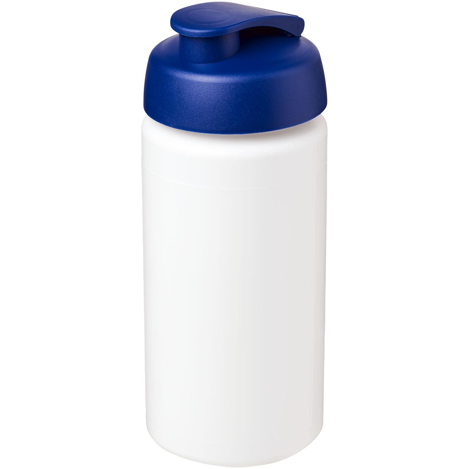 Sportovní láhev s vyklápěcím víčkem Baseline® Plus grip 500 ml - Bílá / Modrá