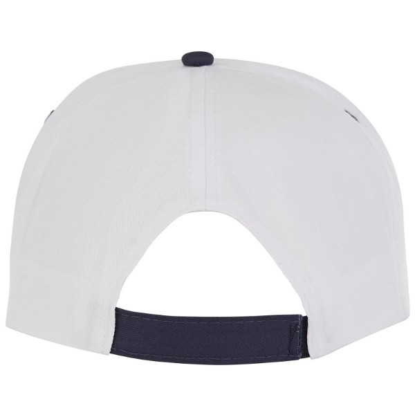 Nestor 5 panel cap with piping - White / Navy