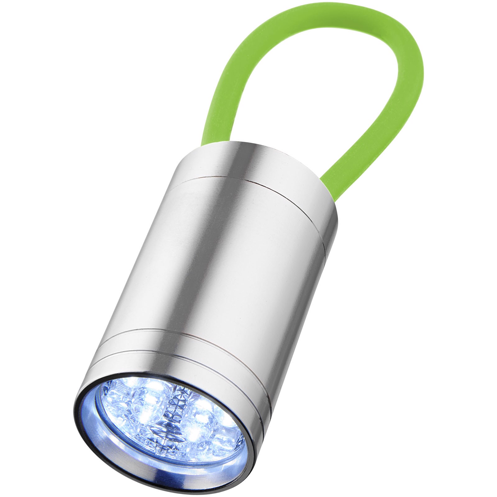 Vela 6-LED torch with glow strap - Lime