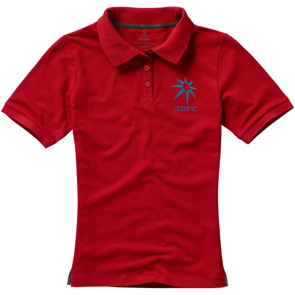 Calgary short sleeve women's polo - Red / XXL