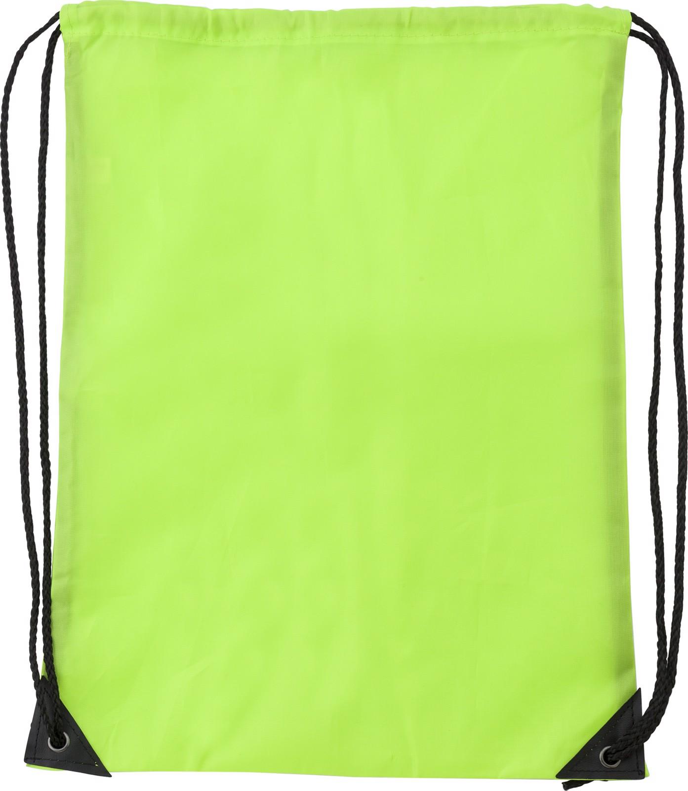 Polyester (210D) drawstring backpack - Lime