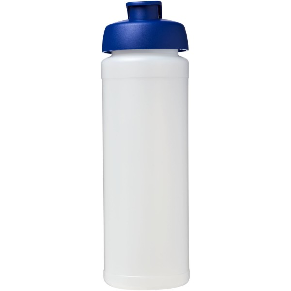 Sportovní láhev s vyklápěcím víčkem Baseline® Plus grip 750 ml - Průhledná / Modrá