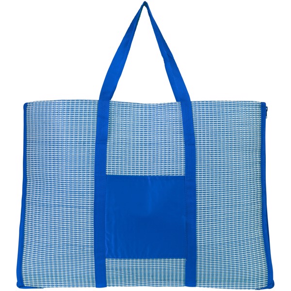 Bonbini foldable beach tote and mat - Royal blue