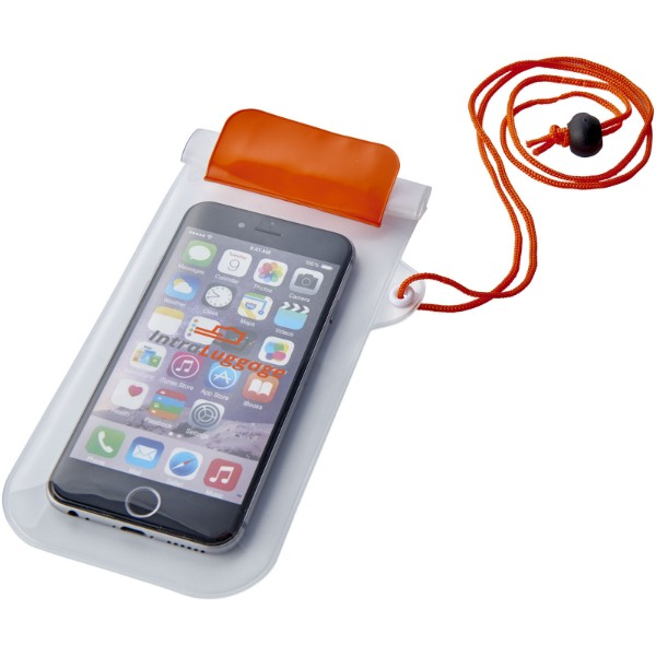 Mambo waterproof smartphone storage pouch - Orange