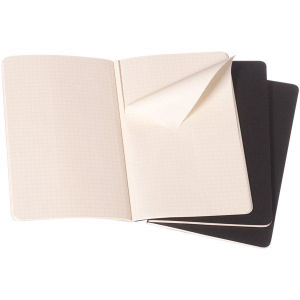 Cahier Journal PK - squared - Solid black