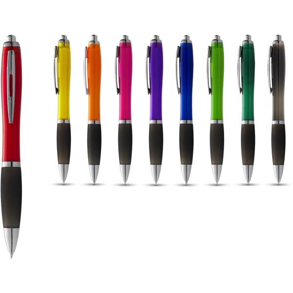 Nash ballpoint pen coloured barrel and black grip - Solid Black