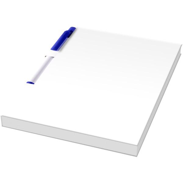 Essential konferenční sada poznámkového bloku A6 a pera - Bílá / Modrá