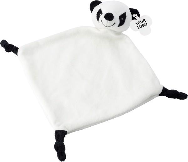 Plush cloth - Black / White