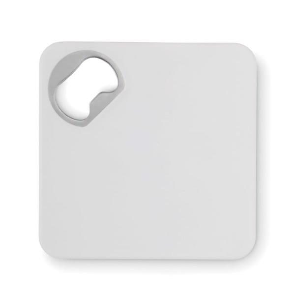 Squared bottle opener Piatto - White