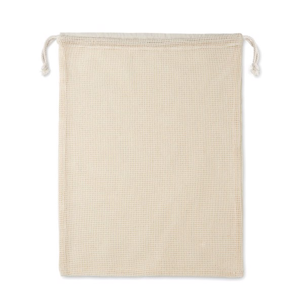 Re-usable cotton mesh food bag Veggie