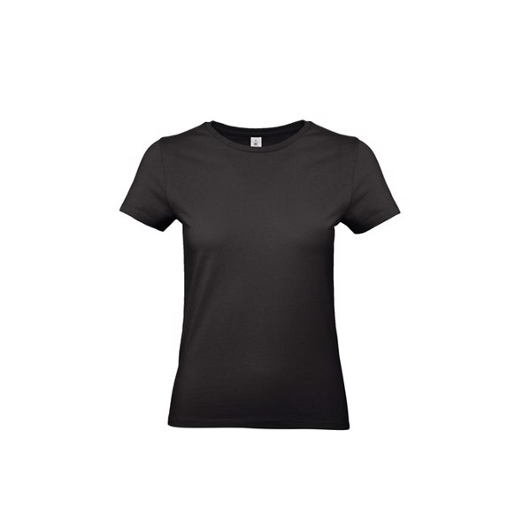 T-shirt female 185 g/m² #E190 /Women T-Shirt - Black / L