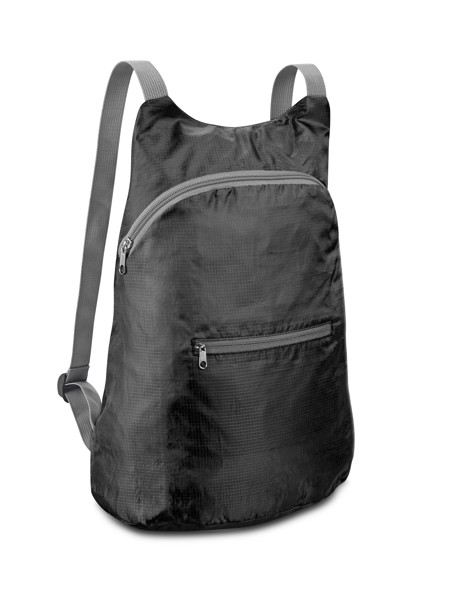 BARCELONA. Foldable backpack - Black