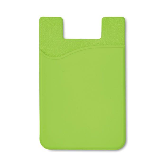 Silikonowe etui do kart płatni Silicard - limonka