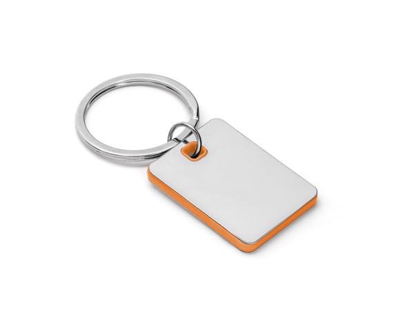 BECKET. Klíčenka z kovu a ABS - Oranžová