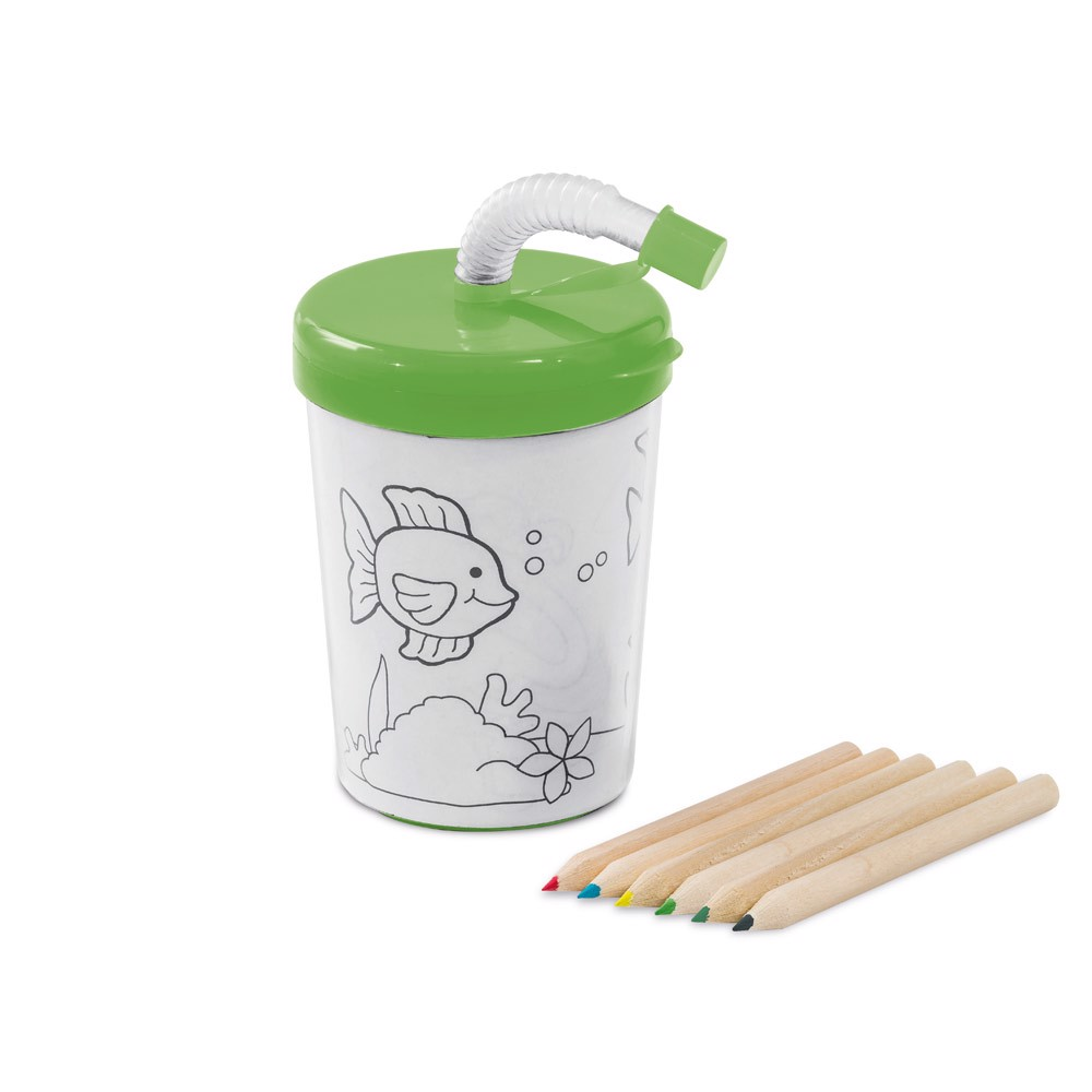 TEJO. Travel cup in PP and PS - Light Green