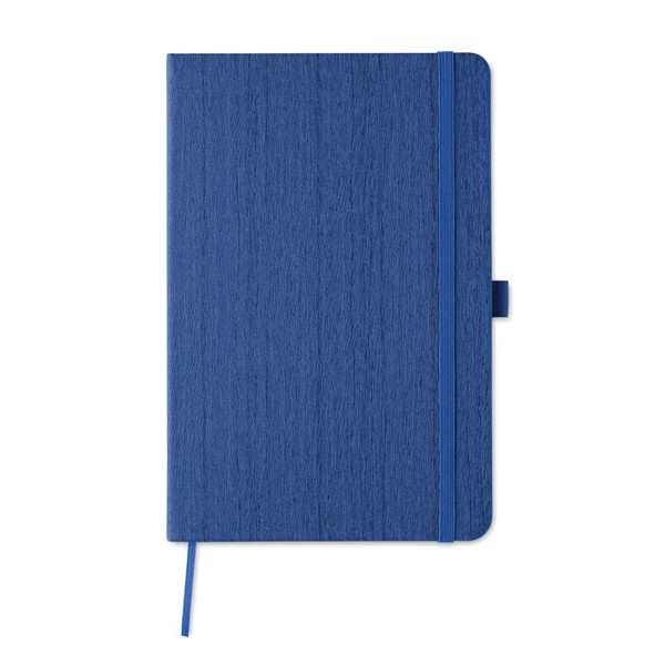A5 notebook in PU with penloop Woody - Royal Blue