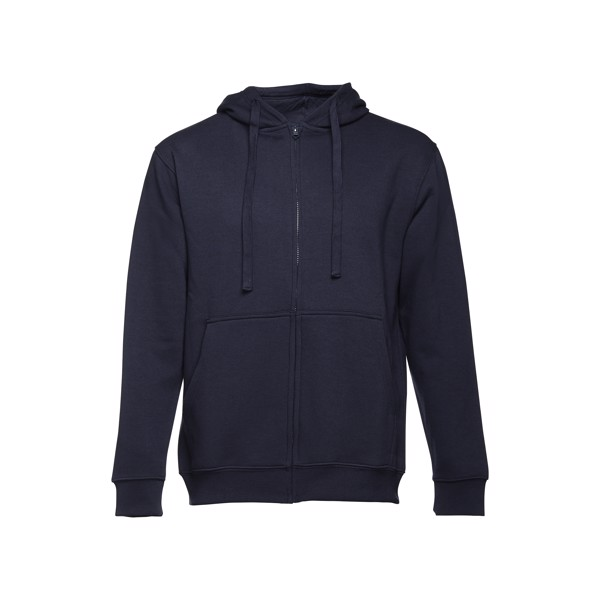 THC AMSTERDAM. Pánská mikina na zip s kapucí - Námořnická Modrá / XXL