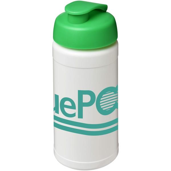 Baseline® Plus 500 ml flip lid sport bottle - White / Green