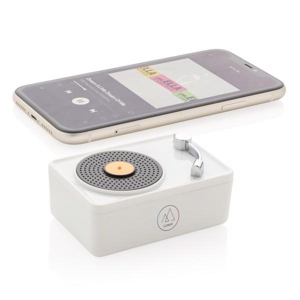 Mini Vintage 3W wireless speaker - White / Black