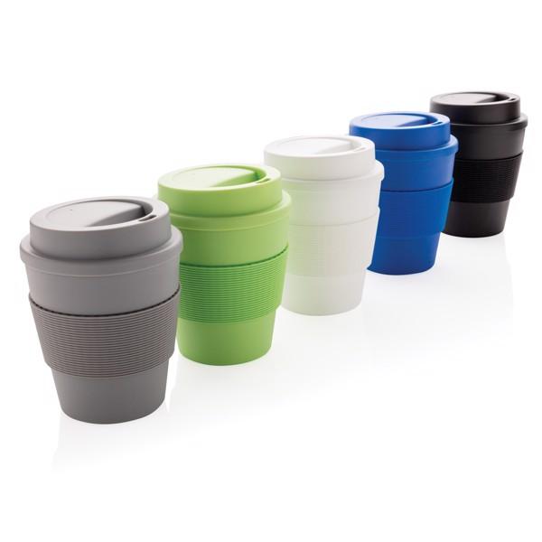 Többször használatos kávésbögre rácsavarható tetővel 350 ml - Fekete