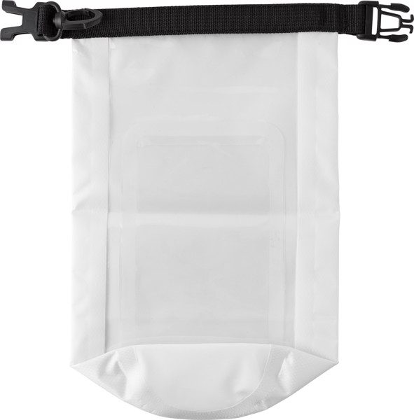 Polyester (210T) watertight bag - White