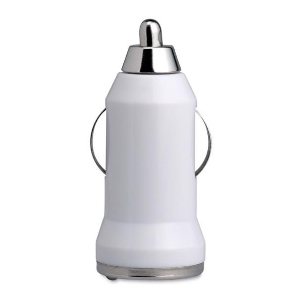 USB nabíječka do auta Mobicar - white