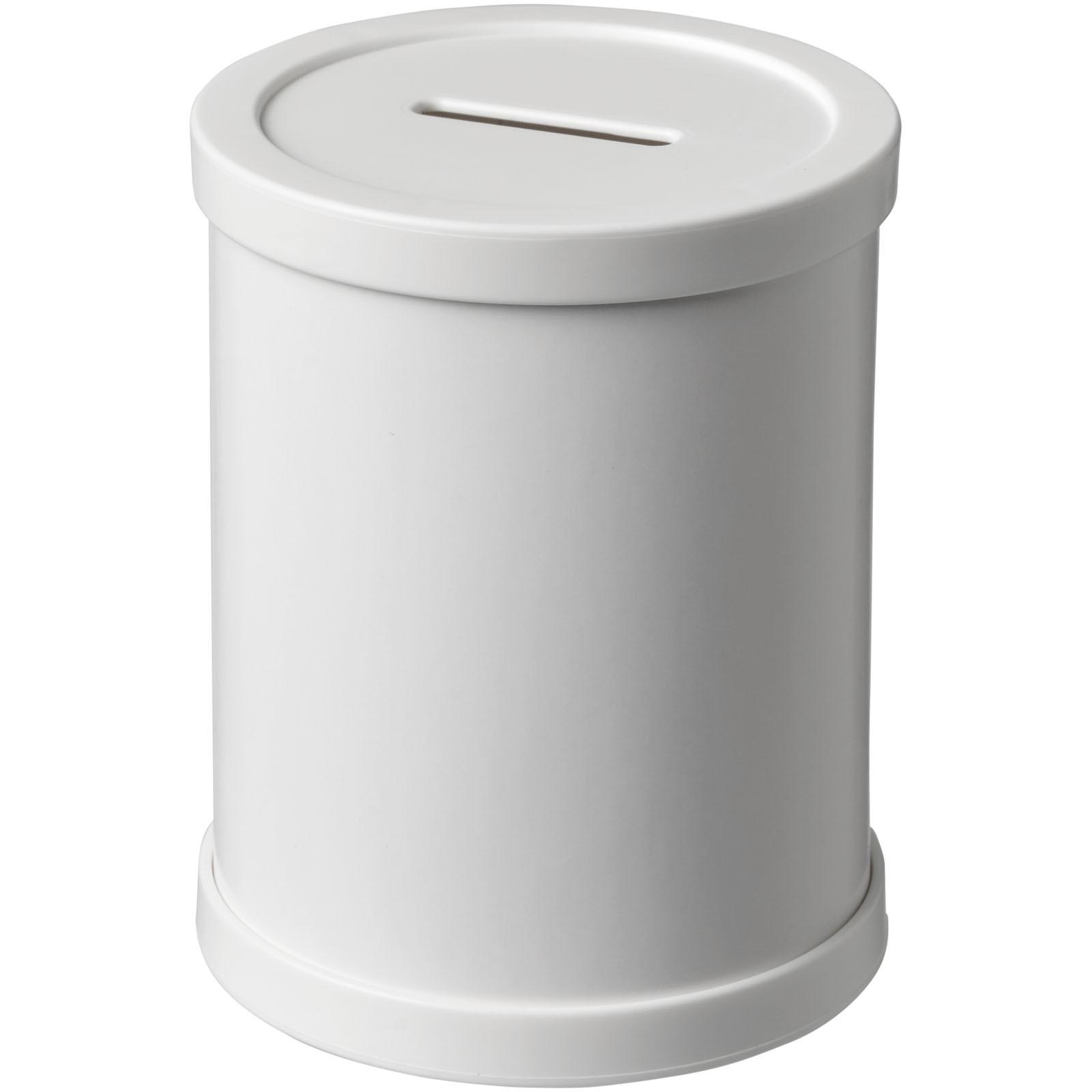 Rafi round money container - White