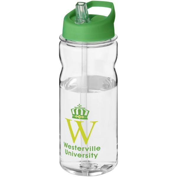 Sportovní láhev s víčkem s hubičkou Base Tritan™ 650 ml - Průhledná / Zelená