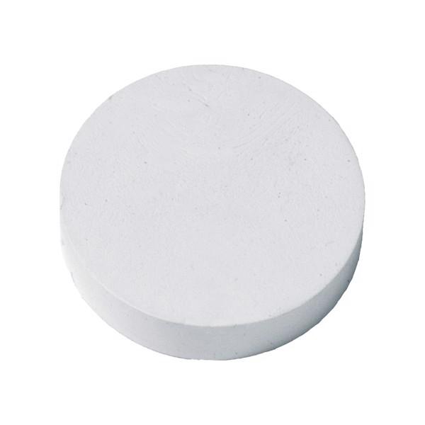"""Eraser """"Round"""" - White"""