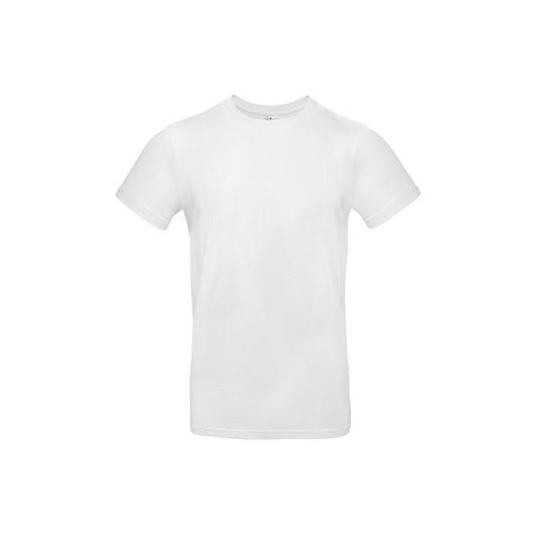 T-shirt male 185 g/m² #E190 T-Shirt - White / XS