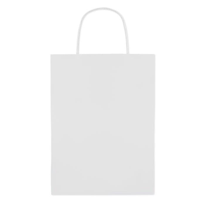 Papír táska. Közepes 150 gr/m² Paper Medium - fehér-TESZT