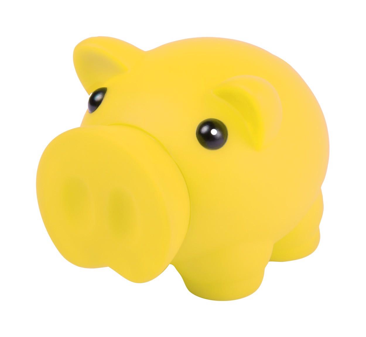Pokladnička Prasátko Donax - Žlutá