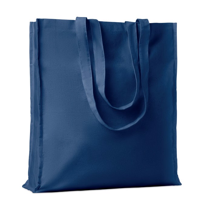Cotton shopping bag w/ gusset Portobello - Blue