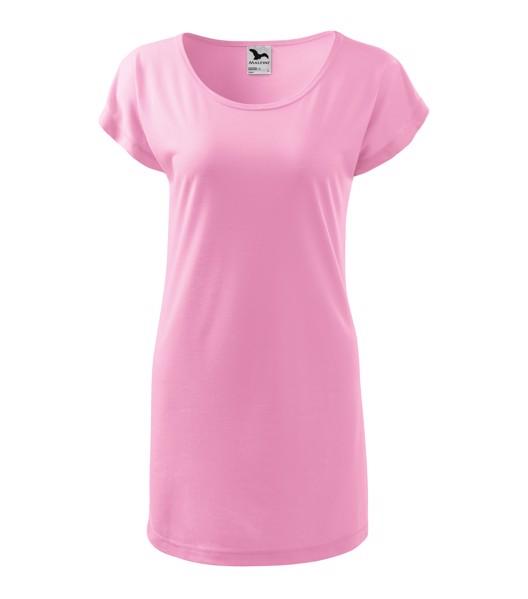 Tričko/šaty dámské Malfini Love - Růžová / XS