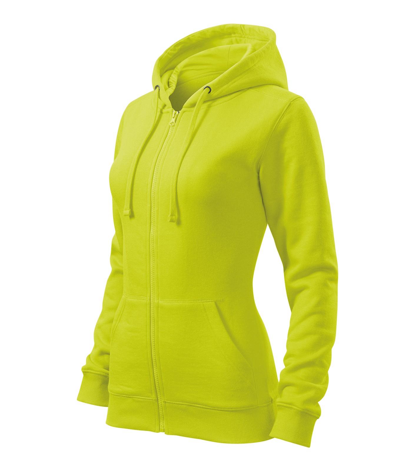 Sweatshirt women's Malfini Trendy Zipper - Lime Punch / L
