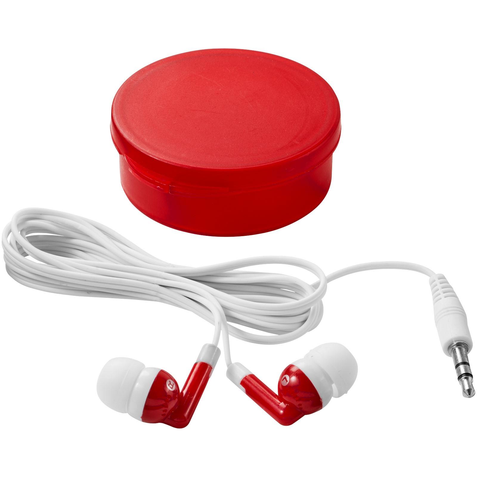 Sluchátka Versa - Transparentní červená / Bílá