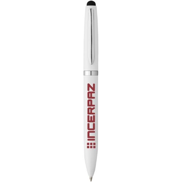 Kuličkové pero a stylus Brayden - Bílá