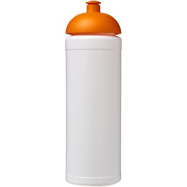 Sportovní láhev s kupolovitým víčkem Baseline® Plus grip 750 ml - Bílá / 0ranžová