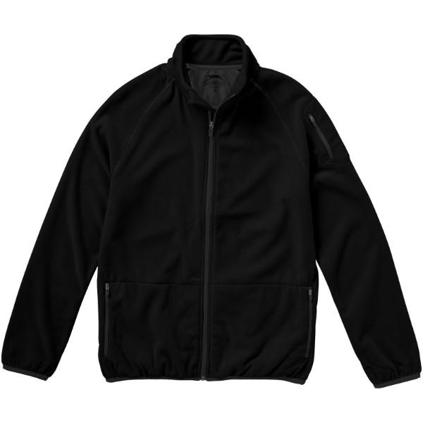 Bunda Drop shot z materiálu mikro fleece - Černá / S