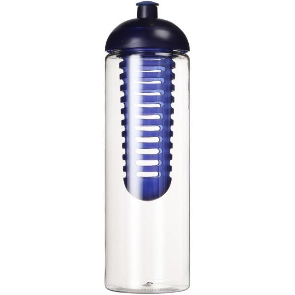 H2O Vibe 850 ml dome lid bottle & infuser - Transparent / Blue