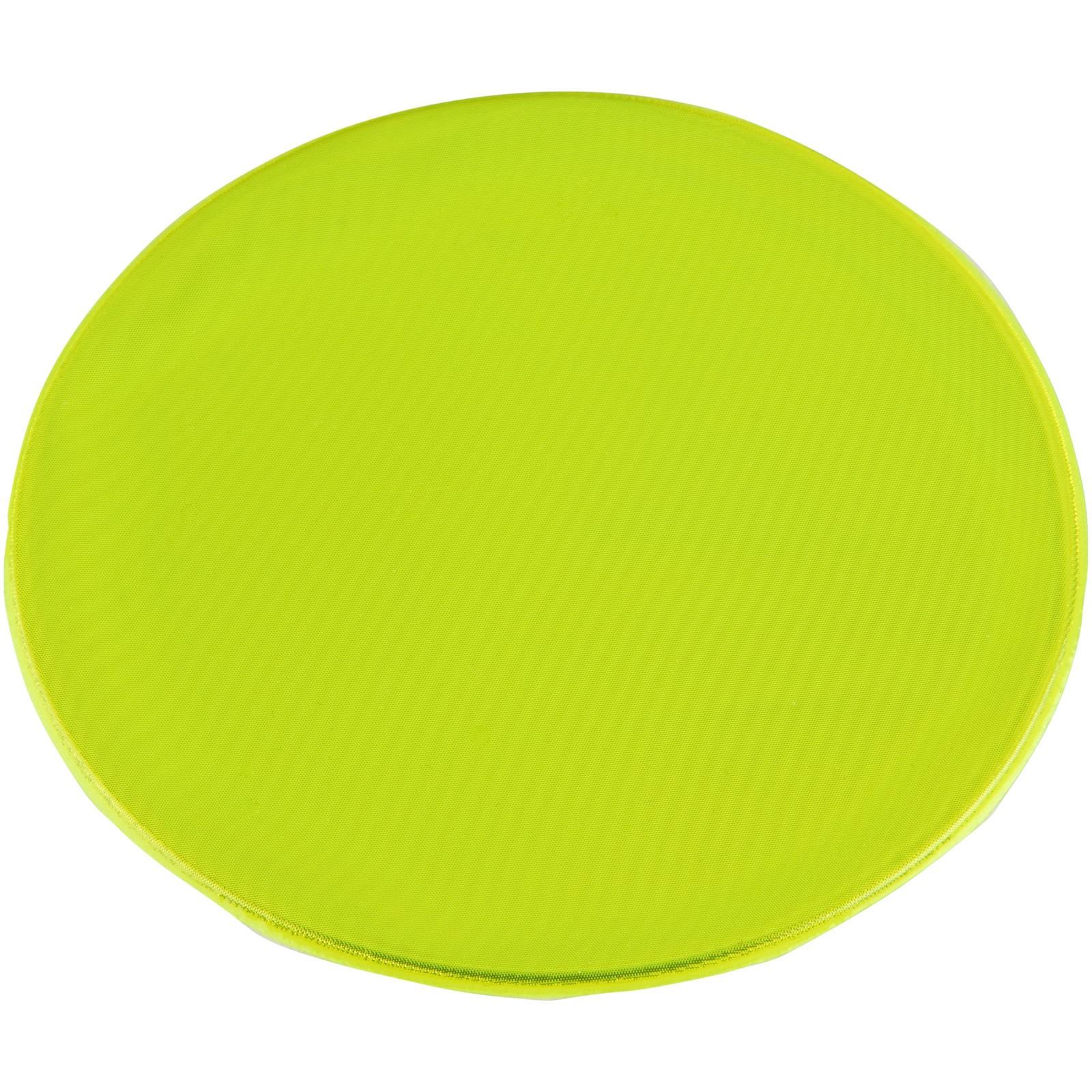 Reflexní samolepka kulatá střední - Žlutá
