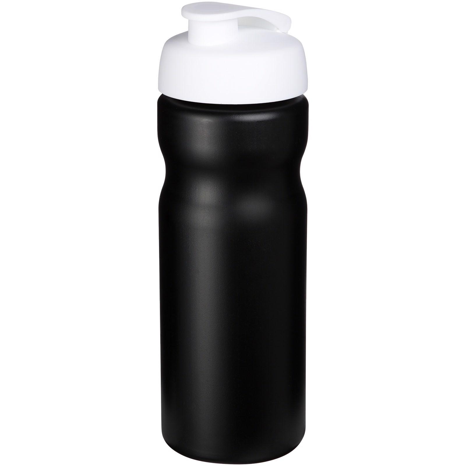 Sportovní láhev s vyklápěcím víčkem Baseline® Plus 650 ml - Černá / Bílá