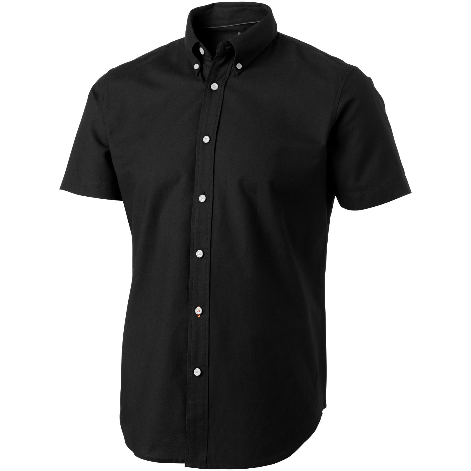 Manitoba short sleeve men's oxford shirt - Solid black / XL