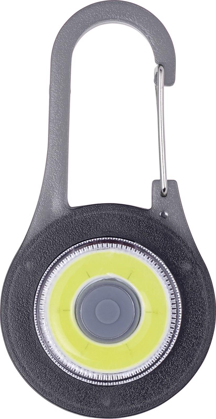 ABS 2-in-1 carabiner hook - Black