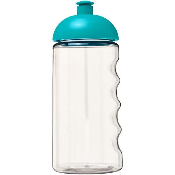 Láhev s kupolovitým víčkem H2O Bop® 500 ml - Průhledná / Aqua blue