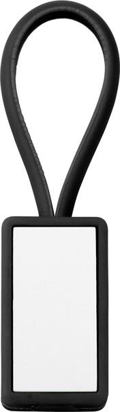 Schlüsselanhänger 'Color-Line' aus Kunststoff - Black