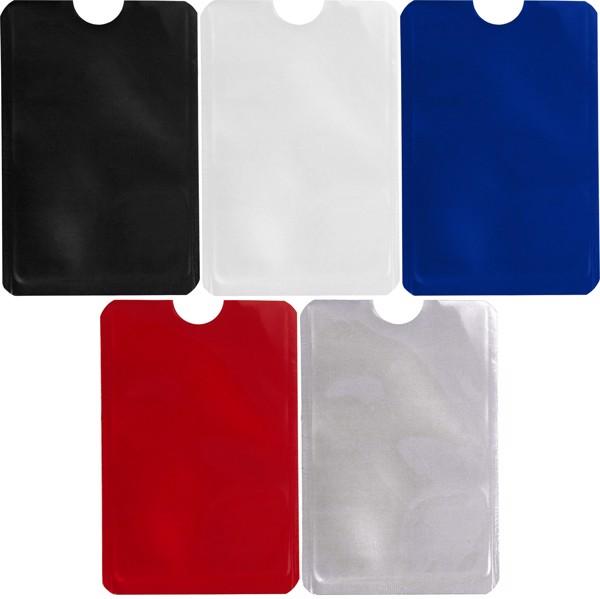 Aluminium card holder - Blue