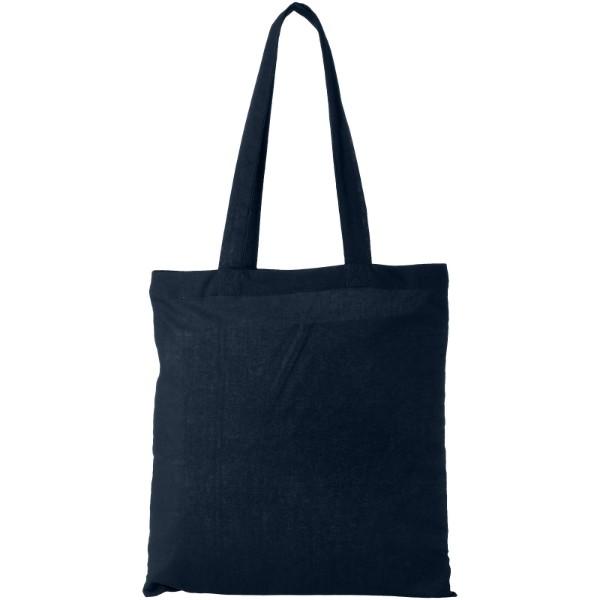 Madras 140 g/m² cotton tote bag - Navy