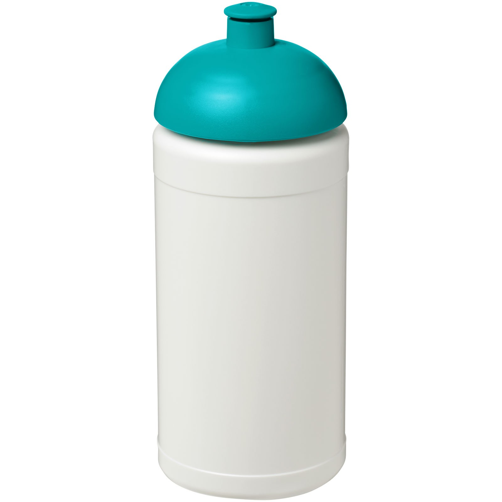 Baseline® Plus 500 ml dome lid sport bottle - White / Aqua