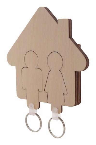 Věšák Na Klíče Na Stěnu Homey - Přírodní